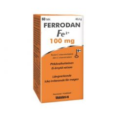 Ferrodan Fe2+ 100 mg 60 tabl