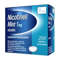 NICOTINELL MINT 1 mg imeskelytabl 204 fol