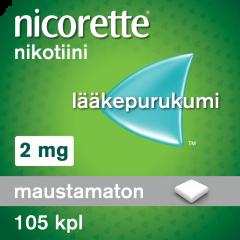 NICORETTE 2 mg lääkepurukumi 105 fol