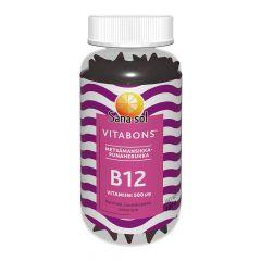 Sana-Sol Vitabons B12-vit. 500mikrog Metsämansikka 60 kpl