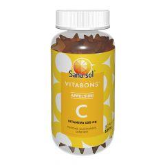 Sana-Sol Vitabons C-vit. 100mg Appelsiini  60 kpl