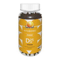 Sana-Sol Vitabons D-vit. 25mikrog Mango  60 kpl