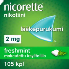 NICORETTE FRESHMINT 2 mg lääkepurukumi 105 fol