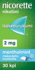 NICORETTE MENTHOLMINT 2 mg lääkepurukumi 30 fol