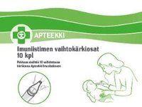 APTEEKKI IMUNIISTIMEN VAIHTOKÄRKIOSAT 10 KPL